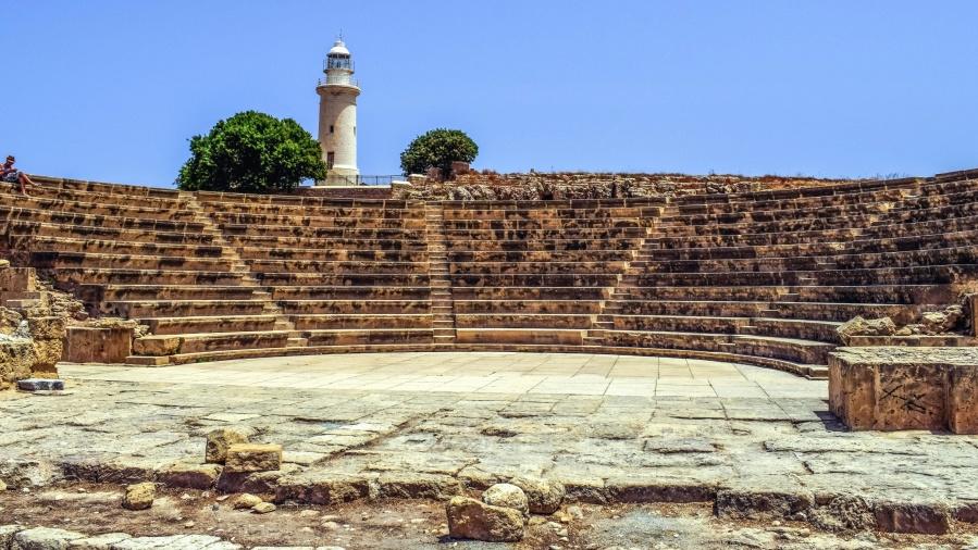 amfiteater, historiske, museum, himmelen, fyr, teater, arkeologi
