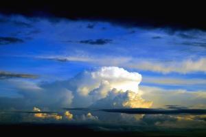 Nube, cielo, anochecer