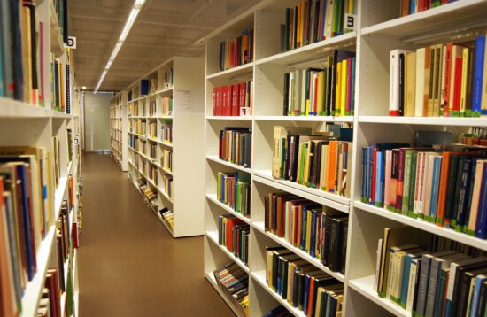 Buch, regal, bibliothek, wissenschaft, studie, lernen