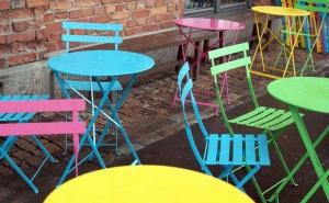 καρέκλα, οποία, έπιπλα, χρώματα, μεταλλικά