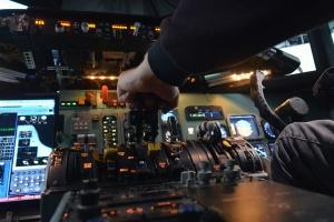 Piloto, electrónica, aviación, simulador, mosca, carlinga, avión