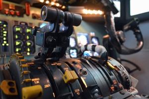 Aviation, simulateur, vol, cockpit, avion, apprentissage