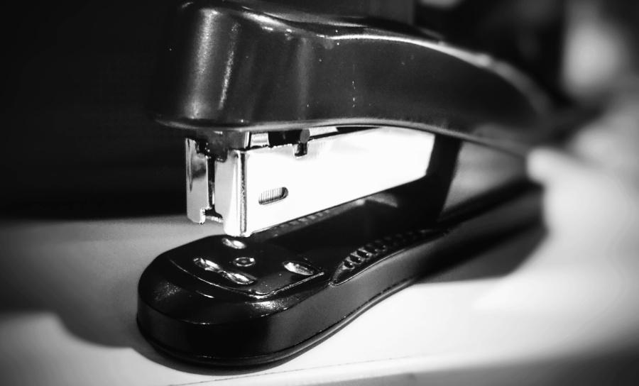 stapler, office, paper, metal, equipment
