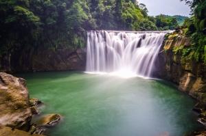 Klippen, Wasser, Fluss, Wasserfall, Natur, Himmel, Felsen, Wälder