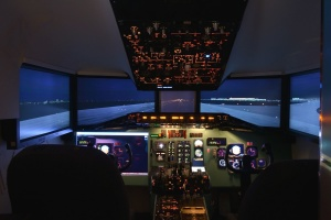 electronics, aviation, runway, night, simulator, flying, cockpit, aircraft, learning