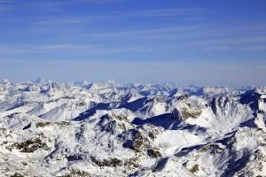 sky, mountains, snow, winter, cold, frozen, landscape