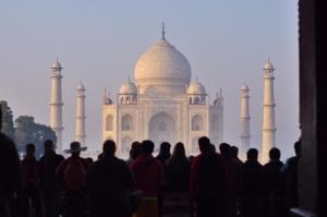 Mosquée, gens, foule, architecture, Asie, bâtiment, extérieur