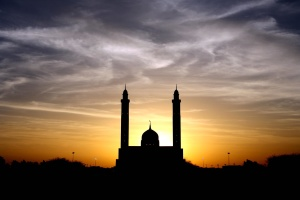 dusk, shadow, mosque, religion