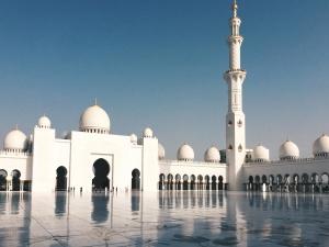Meczet, ulica, luksusowe, architektura, zewnętrzny, Wieża