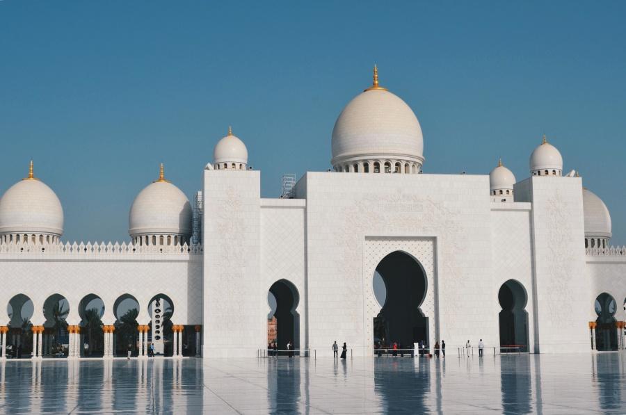 mešita, architektúra, biela, mramor