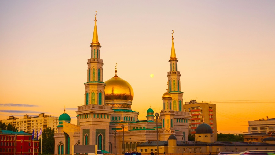 Free Picture Mosque Luxury Gold Tower Exterior