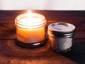 table, wood, candle, aroma, wax, atmosphere