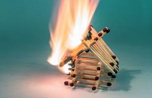 Fósforos, modelos, fuego, peligro, caliente, humo, calor
