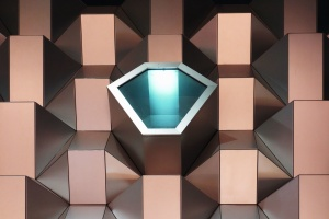 Futuristisch, kasten, kunst, abstrakt, geometrie