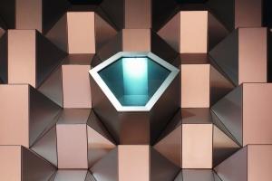 futuristic, box, art, abstract, geometry
