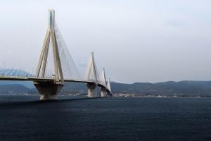 bridge, tower, sea, transport, village, water, harbour