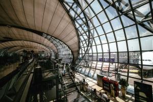 Construcción, arquitectura, aeropuerto, aeroplano, escaleras, acero, edificio