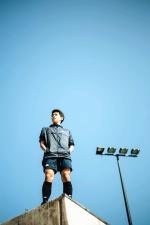 reflektor, dječak, zgrade, foto model, nebo, moda