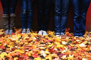 legs, shoes, leaves, colors, footwear