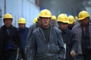 workers, factory, helmet, jacket, man, industry, worker