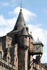 clock, building, architecture, castle, sky, historical