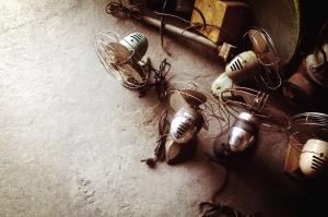 propeller, luft, cool, gamla, metall, elektriska fläktar, retro, teknik