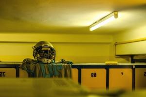 room, sports, helmet, football, jersey, uniform