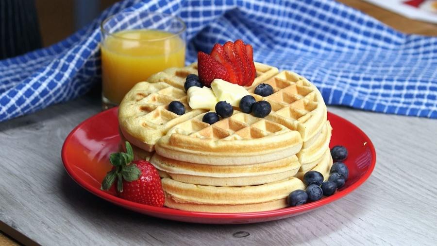 jagoda, borovnica, torte, ukusne, hrane, sok od naranče, staklo, stol, doručak