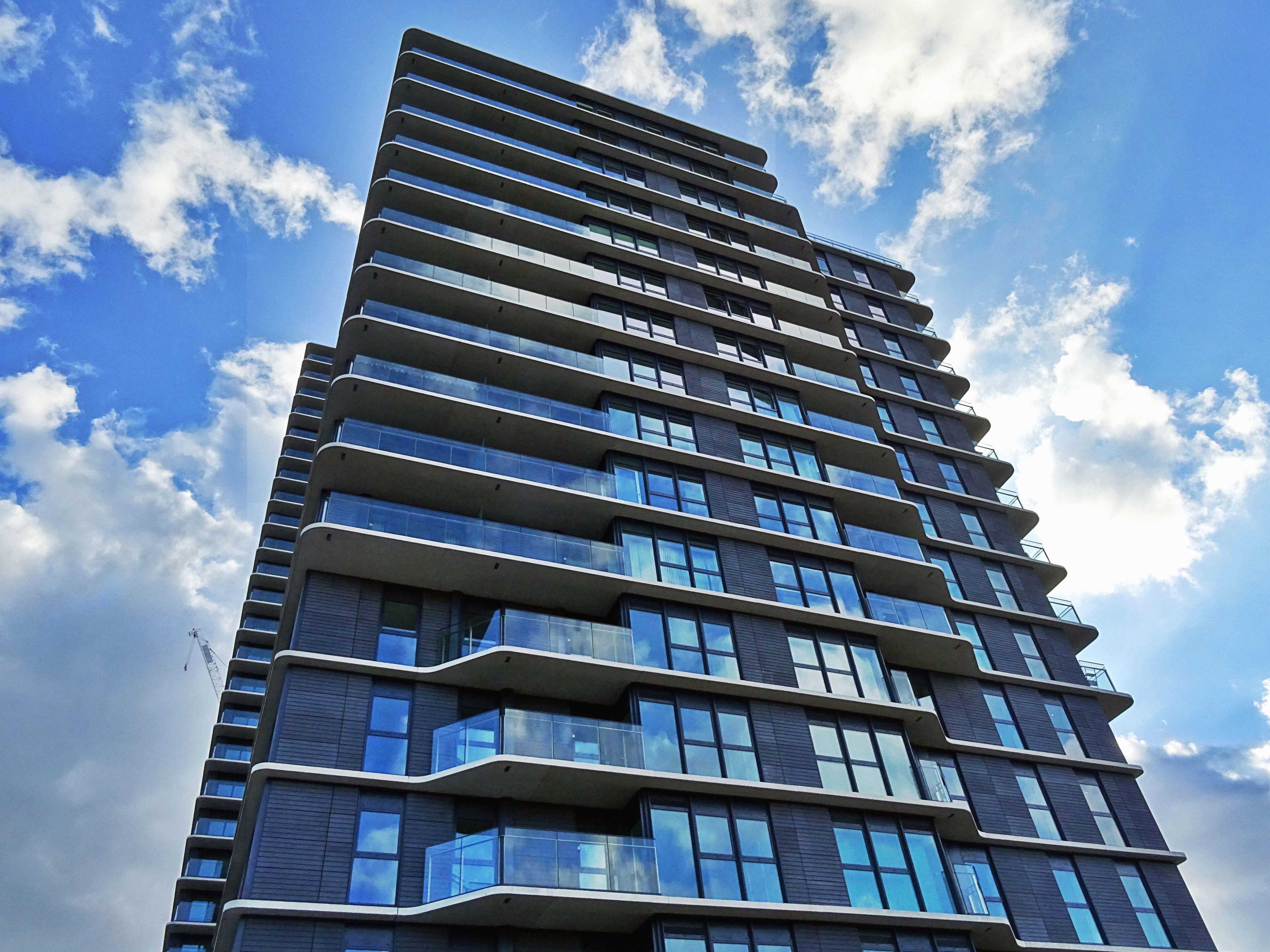 office facade. Sky, Cloud, Architecture, Building, Facade, Office, Window, Glass Office Facade S