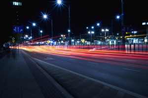 street, light, asphalt, speed, lines, transportation