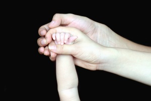 father, mother, baby, family, hands, fingers
