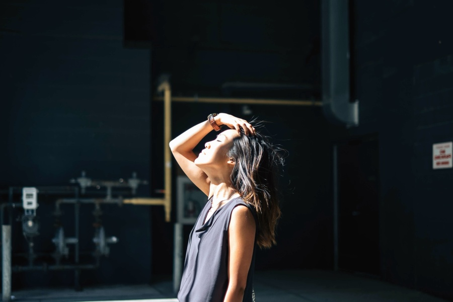 girl, photo model, fashion, light, hair, sunlight