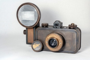 photo camera, antique, lens