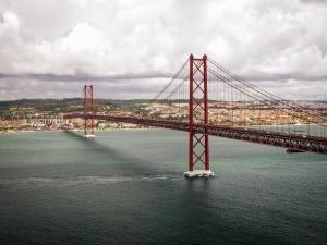 Río, pilar, puente, agua, transporte, arquitectura