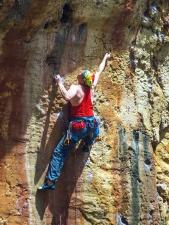 mountain, rocks, sport, rope