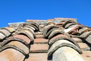 crijep, kuća, krov, nebo, keramika