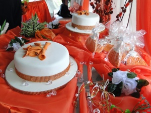 wedding cake, wedding, decoration, fork, knife, celebration