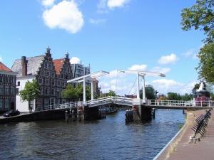 house, river, bridge, architecture, construction