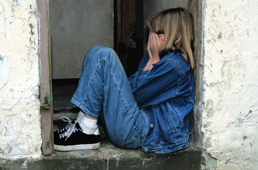 girl, photo model, fashion, pants, jeans, door