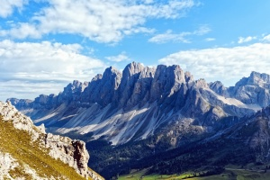 mountain, cloud, sky, nature, rocks