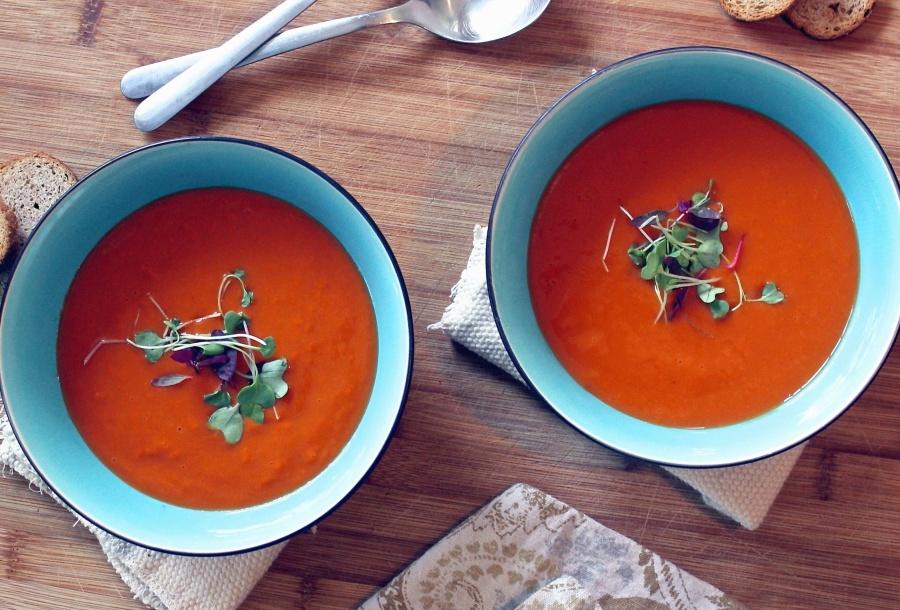 Piatto, cibo, spezia, tavola, cucchiaio, zuppa