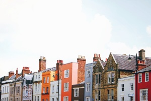 houses, buildings, architecture, chimney, street