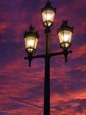 light bulb, lamp, light, street, night, sky, metal