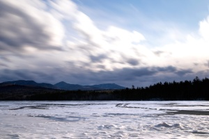 lanskap, musim dingin, es, Danau, air, Pantai