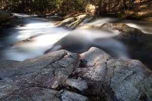 landscape, water, stream, rocks, spring