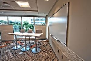 Réunion, chaise, bureau, table, fenêtre, intérieur