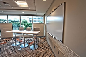 møde, stol, skrivebord, tabel, vindue, interiør