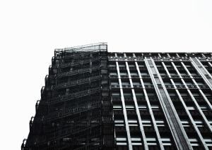 Treppe, gebäude, architektur, feuer, himmel, fassade