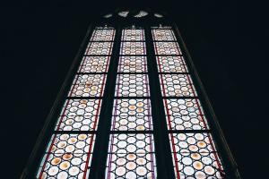Mosaïque, art, verre, fenêtre, histoire
