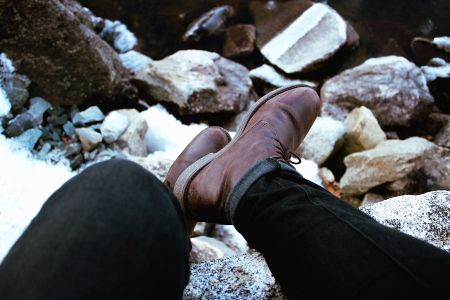 Free picture: shoe, pants, stone
